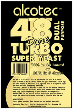 Alcotec 48 Pure Turbo Yeast