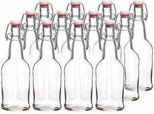 Clear Swing Top Bottles 500ML (12 Pack)